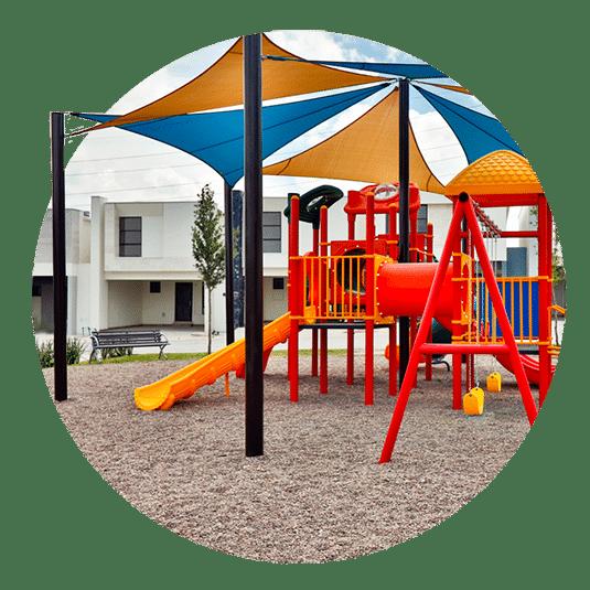 Juegos infantiles en Fraccionamiento Altrysa Residencial en Cumbres